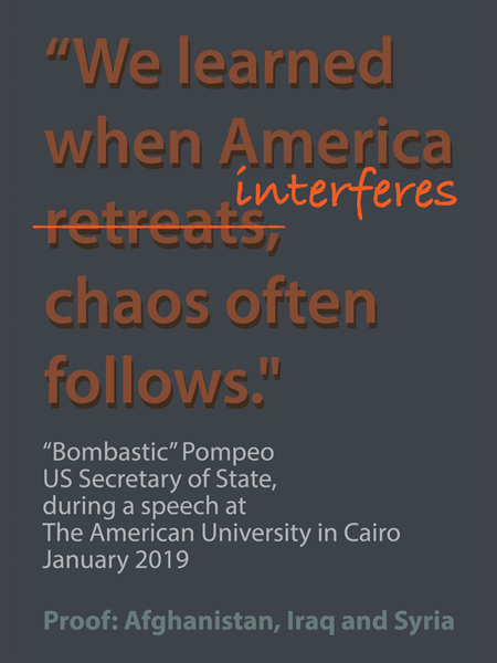"""We learned when America retreats, chaos often follows."""