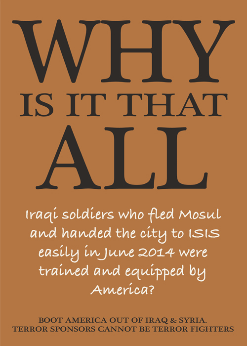 Questions Iraqis Ask – poster one of seven