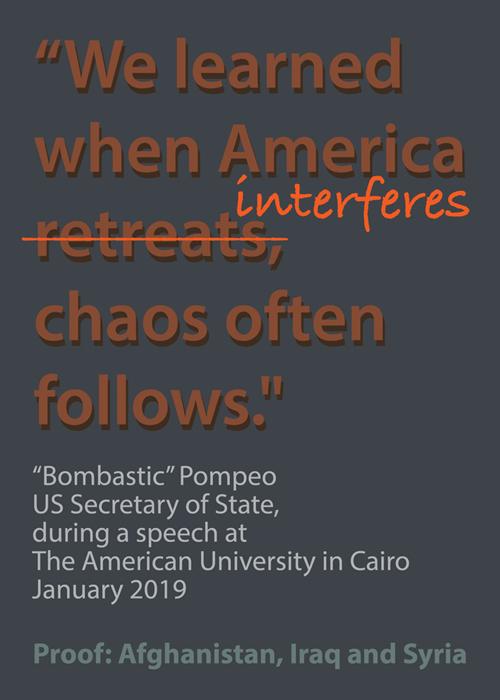 """""""We learned when America retreats, chaos often follows."""""""