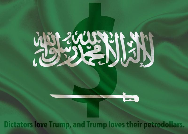 Dictators love Trump and Trump loves their petrodollars.