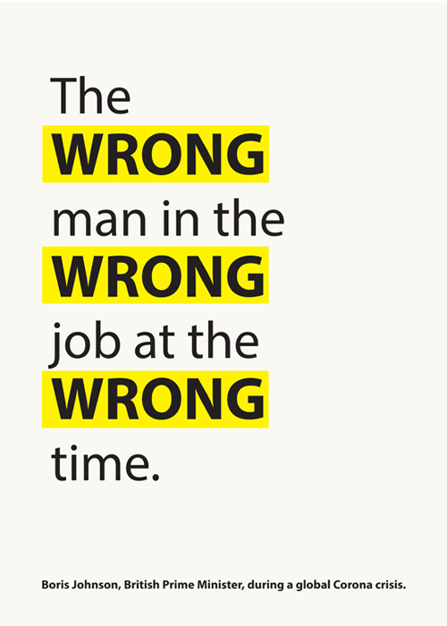 The wrong man in the wrong job at the wrong time.